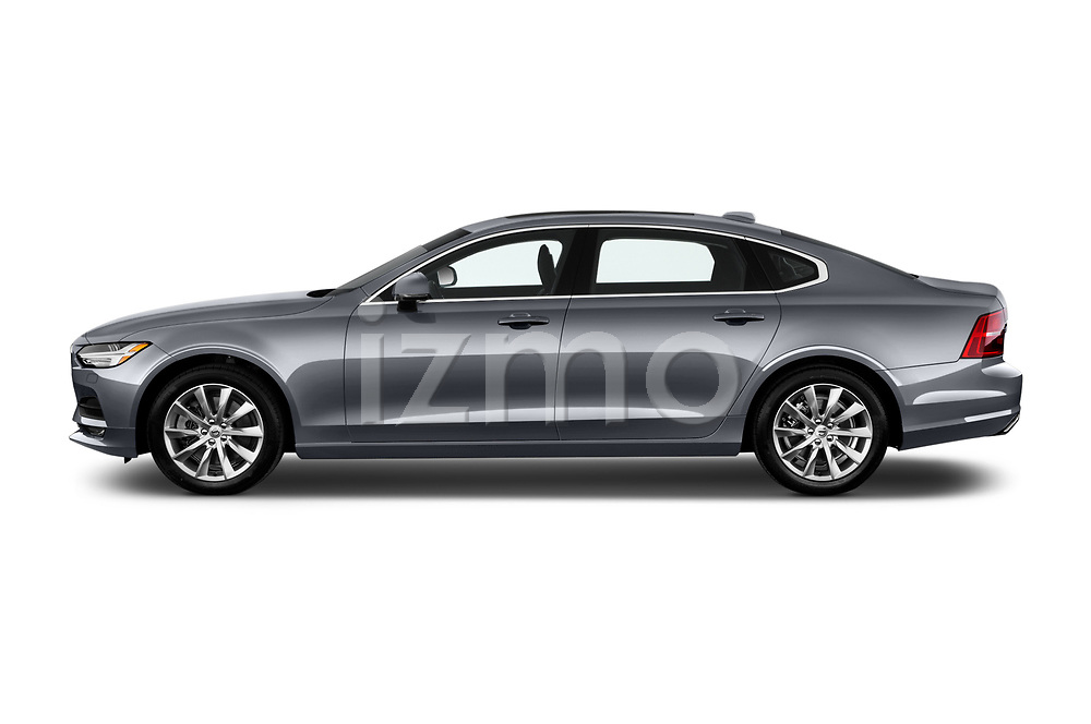 Car driver side profile view of a 2018 Volvo S90 Momentum 4 Door Sedan