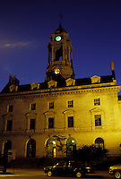 Portland, ME, Maine, City Hall in the evening in downtown Portland.