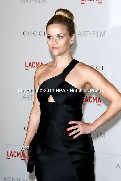 LOS ANGELES - NOV 5:  Reese Witherspoon arrives at the LACMA Art + Film Gala at LA County Museum of Art on November 5, 2011 in Los Angeles, CA
