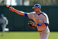 Giuseppe Papaccio #2 of the Seton Hall Pirates during the Big East-Big Ten Challenge vs. the Michigan State Spartans at Al Lang Field in St. Petersburg, Florida;  February 19, 2011.  Michigan State defeated Seton Hall 5-4.  Photo By Mike Janes/Four Seam Images