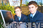 Fionnan Horgan and Tommy O'Neill, 6th year students in St Brendans College, Killarney who are through to the semi-finals of the Denny Munster School debating competition in UCC on Saturday..