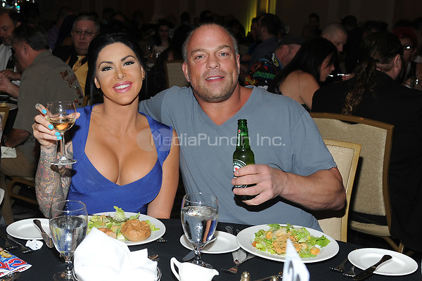LAS VEGAS, NV - MAY 02: Rob Van Dam and Katie Forbes at the 2018 Cauliflower Alley Club Awards Banquet And Dinner at the Gold Coast Hotel & Casino in Las Vegas, Nevada on May 2, 2018. Credit: George Napolitano/MediaPunch