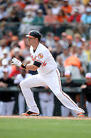 Baltimore Orioles catcher Matt Wieters (32) during a spring training game against the Philadelphia Phillies on March 7, 2014 at Ed Smith Stadium in Sarasota, Florida.  Baltimore defeated Philadelphia 15-4.  (Mike Janes/Four Seam Images)