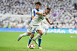 Real Madrid Lucas Vazquez and RCD Espanyol Felix Granero during La Liga match between Real Madrid and RCD Espanyol at Santiago Bernabeu Stadium in Madrid, Spain. September 22, 2018. (ALTERPHOTOS/Borja B.Hojas)