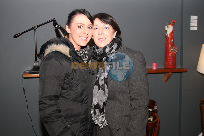 "Patricia and Louise Silk at the Lourdes Brass Band and St.Brigids Drama Group Performance of ""A Christmas Carol"" in The Droichead Arts Centre...(Photo credit should read Jenny Matthews www.newsfile.ie)....This Picture has been sent you under the conditions enclosed by:.Newsfile Ltd..The Studio,.Millmount Abbey,.Drogheda,.Co Meath..Ireland..Tel: +353(0)41-9871240.Fax: +353(0)41-9871260.GSM: +353(0)86-2500958.email: pictures@newsfile.ie.www.newsfile.ie."