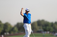 Dean Burmester (RSA) on the 18th green during Round 4 of the DP World Tour Championship 2017, at Jumeirah Golf Estates, Dubai, United Arab Emirates. 19/11/2017<br /> Picture: Golffile | Thos Caffrey<br /> <br /> <br /> All photo usage must carry mandatory copyright credit     (© Golffile | Thos Caffrey)