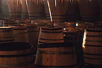 Europe/France/Poitou-Charentes/16/Charente/Cognac : Tonnellerie Seguin Moreau - Stock de barriques en construction<br /> PHOTO D'ARCHIVES // ARCHIVAL IMAGES<br /> FRANCE 1990