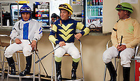 Every race track across the country has a Jockey's room, yet most people are unaware of how important it is to keeping the races running on schedule. Inside, valets and officials hustle about to keep the races running smoothly while jockeys prepare to ride and then unwind in the aftermath. It is an unheralded  but vital part of everyday of operations. .