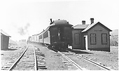 Passenger train at depot.<br /> D&amp;RGW  Cerro Summit, CO  Taken by Schnepf, Ted - 6/1931