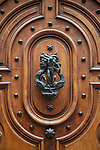 An ornate door in Old Geneva, Switzerland