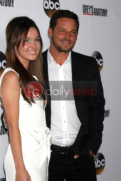 """Camilla Luddington, Justin Chambers<br /> at the """"Grey's Anatomy"""" 200th Episode Red Carpet Event, Colony, Hollywood, CA 09-28-13<br /> David Edwards/Dailyceleb.com 818-249-4998"""