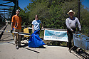 The Save Our Shores nonprofit organized this river cleanup for Pilarcitos Creek in Half Moon Bay, California. 906 pounds of trash and 161 pounds of recycling from the creek. Photo available in high resolution (4368 x 2912 pixels).