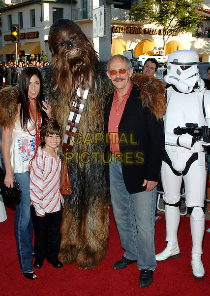 "CHEWBACCA, CHRISTOPHER LLOYD & FAMILY  & STORMTROOPERS.""Star Wars: Episode III, ""Star Wars Episode III Revenge of The Sith"" Premiere to Benefit Artists for a New South Africa Charity held at Mann Village Theater. .March 5th, 2005.Photo Credit: Jacqui Wong/AdMedia.full length costume dress up.www.capitalpictures.com.sales@capitalpictures.com.© Capital Pictures."