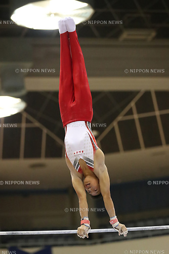 Koga Hiramatsu (), <br /> AUGUST 21, 2017 - Artistic Gymnastics : <br /> 48th All Japan Junior High School Championships <br /> Men's Individual All-Around <br /> Horizontal Bar <br /> at Kitakyushu City General Gymnasium, Fukuoka, Japan. <br /> (Photo by YUTAKA/AFLO)