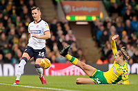 Bolton Wanderers' Pawel Olkowski evades the challenge of Norwich City's Todd Cantwell<br /> <br /> Photographer David Shipman/CameraSport<br /> <br /> The EFL Sky Bet Championship - Norwich City v Bolton Wanderers - Saturday 8th December 2018 - Carrow Road - Norwich<br /> <br /> World Copyright &copy; 2018 CameraSport. All rights reserved. 43 Linden Ave. Countesthorpe. Leicester. England. LE8 5PG - Tel: +44 (0) 116 277 4147 - admin@camerasport.com - www.camerasport.com