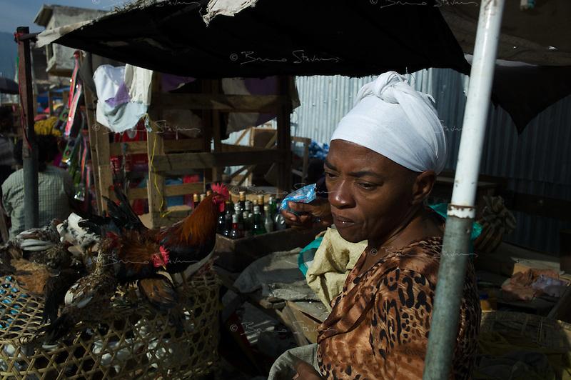 Port au Prince, Haiti, April 17, 2010.Poverty and destruction downtown Port au Prince.