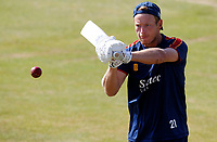 Tom Westley warms up prior to Essex CCC vs Kent CCC, Bob Willis Trophy Cricket at The Cloudfm County Ground on 3rd August 2020