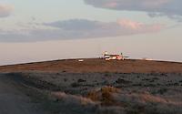 Cape Espiritu Santo lighthouse in the barren, windswept lands of Tierra del Fuego in Patagonia, Chile