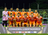 CARACAS - VENEZUELA, 07-02-2019. Jugadores de La Guaira de Venezuela posan para una foto previo al partido con Atlético Nacional de Colombia por la segunda fase, llave 6, de la Copa CONMEBOL Libertadores Bridgestone 2019 jugado en el estadio Olimpico UCV de la ciudad de Caracas. / Players of La Guaira of Venezuela pose to a photo prior the match with Atletico Nacional of Colombia for the second phase, key 6, of the Copa CONMEBOL Libertadores Bridgestone 2019 played at Olimpico UCV stadium in Caracas city. Photo: VizzorImage/ Ederik Palencia /Cont