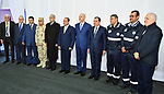 Egyptian President Abdel Fattah al-Sisi poses for a photo with natural gas extraction workers during the inauguruation of the offshore Zohr gas field in the northern Suez canal city of Port Said on January 31, 2018. At the ceremony attended by Sisi, Petroleum Minister Tarek al-Molla said the country expected to save $2.8 billion annually by ceasing to import liquified natural gas following production from the field discovered in 2015 by Italian energy giant Eni, with an initial 350 million cubic feet (10 million cubic metres) a day. Photo by Egyptian President Office