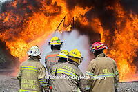 63818-02515 Firefighters at oilfield tank training, Marion Co., IL