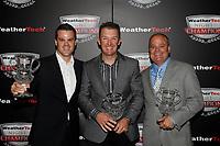 IMSA WeatherTech SportsCar Championship<br /> Night of Champions<br /> Road Atlanta, Braselton GA<br /> Monday 9 October 2017<br /> Dirk Muller, Joey Hand, Mike O'Gara<br /> World Copyright: Michael L. Levitt<br /> LAT Images