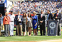 Mariano Rivera (Yankees),<br /> SEPTEMBER 22, 2013 - MLB :<br /> Mariano Rivera of the New York Yankees stands with the Steinbrenner family during his retirement ceremony before the Major League Baseball game against the San Francisco Giants at Yankee Stadium in The Bronx, New York, United States. (Photo by Thomas Anderson/AFLO) (JAPANESE NEWSPAPER OUT)
