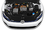 Car stock 2019 Volkswagen e-Golf Base 5 Door Hatchback engine high angle detail view