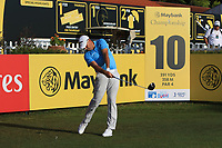 Sam Brazel (AUS) on the 10th tee during Round 1 of the Maybank Championship at the Saujana Golf and Country Club in Kuala Lumpur on Thursday 1st February 2018.<br /> Picture:  Thos Caffrey / www.golffile.ie<br /> <br /> All photo usage must carry mandatory copyright credit (© Golffile | Thos Caffrey)