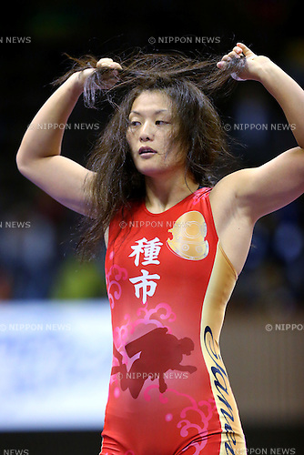 Hikari Sugawara, <br /> MAY 27, 2016 - Wrestling : <br /> Meiji Cup All Japan Invitational Wrestling Championships 2016 <br /> Woen's Free style -55kg <br /> at 2nd Yoyogi Gymnasium, Tokyo, Japan. <br /> (Photo by AFLO SPORT)