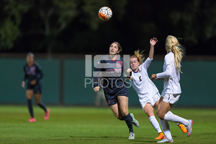 STANFORD, CA - November 6, 2015: Megan Turner during the Stanford vs Cal women's soccer match in Stanford, California.  The Cardinal tied the Bears 1-1 in double overtime.