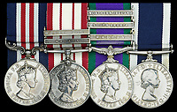 BNPS.co.uk (01202 558833)<br /> Pic: DNW/BNPS<br /> <br /> The remarkable exploits of a hero Royal Marine who survived a 100ft fall before distinguishing himself in battle can be revealed after his bravery medals sold for over £17,000.<br /> <br /> Colour Sergeant Willie Paterson, of 45 Commando, broke nearly every bone in his body when his rope snapped in a training accident in Dartmoor, Devon, in 1962.<br /> <br /> Yet, just two years later, with a metal plate in his arm, he led his men in perilous night time missions against native guerrilla fighters over mountainous terrain during the Radfan Campaign of 1964.<br /> <br /> The campaign was part of the Aden Emergency, an armed insurgency by nationalists against British forces stationed in South Arabia, now part of Yemen.
