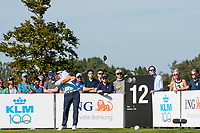 Callum Shinkwin (ENG) in action on the 12th hole during the 3rd round at the KLM Open, The International, Amsterdam, Badhoevedorp, Netherlands. 14/09/19.<br /> Picture Stefano Di Maria / Golffile.ie<br /> <br /> All photo usage must carry mandatory copyright credit (© Golffile | Stefano Di Maria)