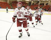 Marissa Gedman (Harvard - 16), Lyndsey Fry (Harvard - 9), Gina McDonald (Harvard - 10) - The visiting Dartmouth College Big Green defeated the Harvard University Crimson 3-2 on Wednesday, November 23, 2011, at Bright Hockey Center in Cambridge, Massachusetts.