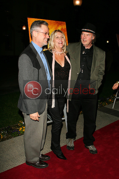 """Jonathan Demme with Pegi Young and Neil Young<br />at the premiere of """"Neil Young: Heart of Gold"""". Paramount Theater, Los Angeles, CA 02-07-06<br />Dave Edwards/DailyCeleb.com 818-249-4998"""