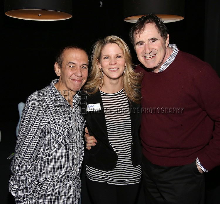 Gilbert Gottfried, Kelli O'Hara, Richard Kind<br />  attend the 5th Annual Paul Rudd All-Star Bowling Benefit for (SAY) at Lucky Strike Lanes on February 13, 2017 in New York City.