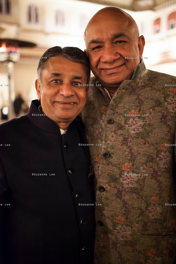 Nirav Modi's father (right) poses for a photograph with his friend at the OzFest Gala Dinner in the Jaipur City Palace, in Rajasthan, India on 10 January 2013. Photo by Suzanne Lee