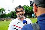 head coach Hakan Atik of VfR Mannheim im Interview im Spiel des VfR Mannheim - FC Germania Friedrichstal.<br /> <br /> Foto © P-I-X.org *** Foto ist honorarpflichtig! *** Auf Anfrage in hoeherer Qualitaet/Aufloesung. Belegexemplar erbeten. Veroeffentlichung ausschliesslich fuer journalistisch-publizistische Zwecke. For editorial use only.