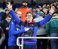 4th February 2020; Cardiff City Stadium, Cardiff, Glamorgan, Wales; English FA Cup Football, Cardiff City versus Reading; Reading fans celebrate the 3-4 win after penalties