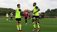 Colin Quaner celebrates scoring Huddersfield Town's opening goal with Oliver Dyson during Brentford B vs Huddersfield Town Under-23, Friendly Match Football at Brentford FC Training Ground, Jersey Road on 12th September 2018