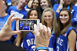 11 November 2016: Some Duke fans, known as Cameron Crazies, have their picture taken. The Duke University Blue Devils hosted the Marist College Red Foxes at Cameron Indoor Stadium in Durham, North Carolina in a 2016-17 NCAA Division I Men's Basketball game. Duke won the game 94-49.