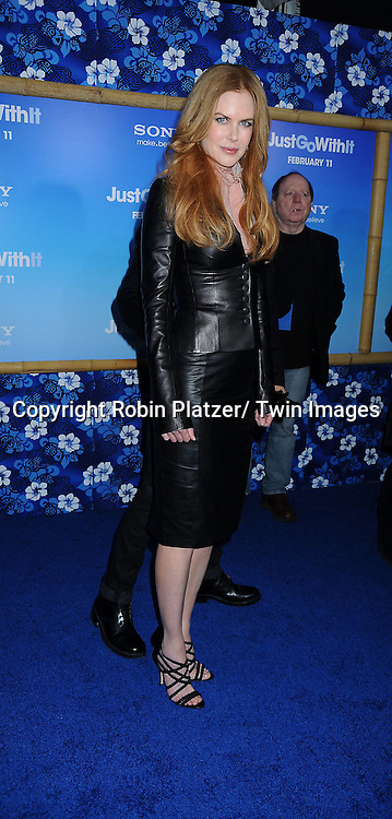 """Nicole Kidman attending the Special New York Screening of """" Just Go With It"""" on February 8, 2011 at The Ziegfeld Theatre in New York City."""