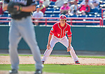 7 March 2016: Washington Nationals infielder Trea Turner takes a lead off first during a Spring Training pre-season game against the Miami Marlins at Space Coast Stadium in Viera, Florida. The Nationals defeated the Marlins 7-4 in Grapefruit League play. Mandatory Credit: Ed Wolfstein Photo *** RAW (NEF) Image File Available ***