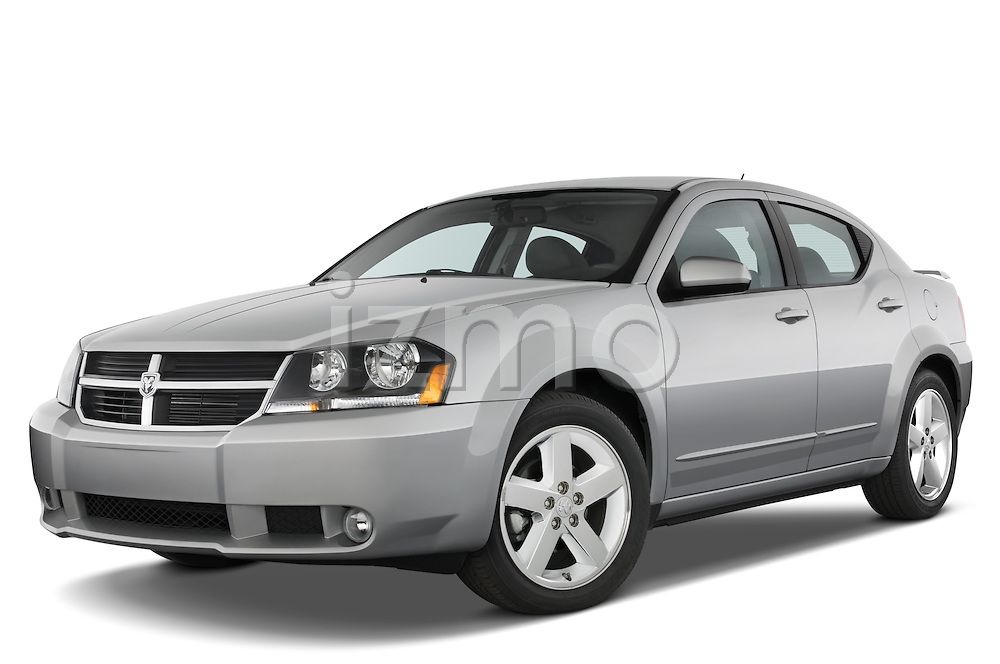 Low aggressive front three quarter view of a 2008 Dodge Avenger RT.