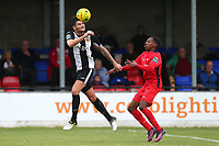 Jack Cawley of Heybridge and Mickel Miller of Carshalton during Heybridge Swifts vs Carshalton Athletic, FA Trophy Football at The Aspen Waite Arena on 7th October 2017