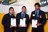 Rugby League finalists Siliva Havili, John Palavi & Samuela Lousi. ASB College Sport Auckland Secondary School Young Sports Person of the Year Awards held at Eden Park on Thursday 12th of September 2009.