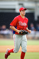 GCL Phillies Dylan Cozens #27 during a Gulf Coast League game against the GCL Yankees at Legends Field on July 17, 2012 in Tampa, Florida.  GCL Phillies defeated the GCL Yankees 4-2.  (Mike Janes/Four Seam Images)