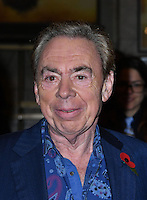 LONDON, ENGLAND - OCT 31: Lord Andrew Lloyd Webber at the Sixth annual awards celebrating the efforts of local people fighting to saving heritage areas and historic sites under threat at Palace Theatre on October 31st, 2016 in London, England.<br /> CAP/JOR<br /> &copy;JOR/Capital Pictures /MediaPunch ***NORTH AND SOUTH AMERICA ONLY***