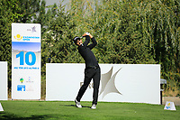 Moritz Lampert (GER) in action during the second round of the Kazakhstan Open presented by ERG played at Zhailjau Golf Resort, Almaty, Kazakhstan. 14/09/2018<br /> Picture: Golffile | Phil Inglis<br /> <br /> All photo usage must carry mandatory copyright credit (© Golffile | Phil Inglis)