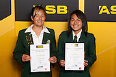 Girls Touch finalists Tyla Nathan-Wong and Charlotte Davis. ASB College Sport Young Sportsperson of the Year Awards held at Eden Park, Auckland, on November 24th 2011.